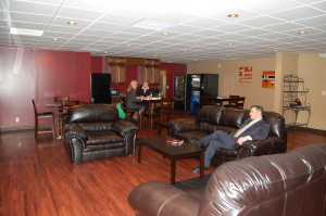 John A. Gupton Student Lounge Students relaxing